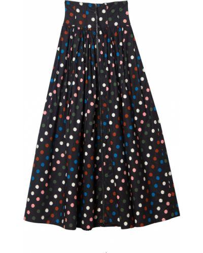 Czarna spódnica w grochy Carolina Herrera