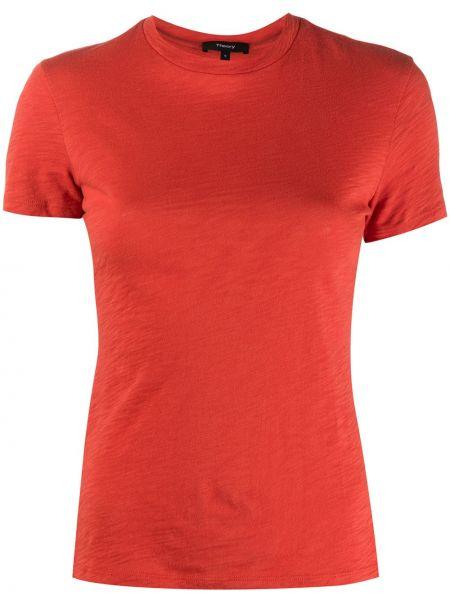Хлопковая приталенная рубашка с короткими рукавами Theory
