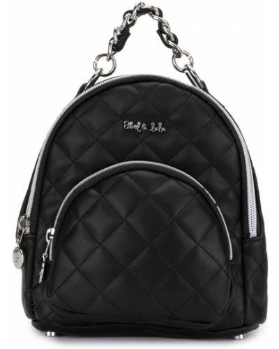Стеганый черный кожаный рюкзак Abel & Lula