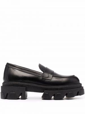 Черные кожаные брюки P.a.r.o.s.h.