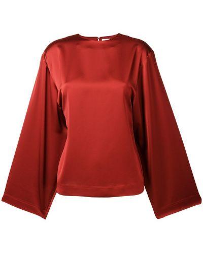 Блузка с длинным рукавом с широкими рукавами красная Toteme