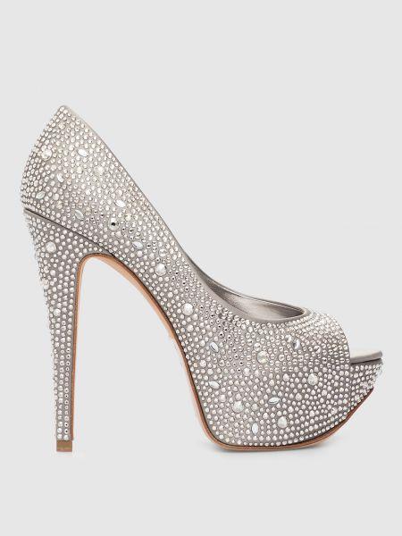 Туфли серебристые - серебряные Gina