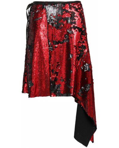 Spódnica asymetryczna z cekinami z paskiem Marques Almeida