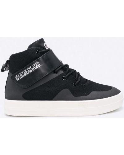Черные кроссовки на платформе Napapijri
