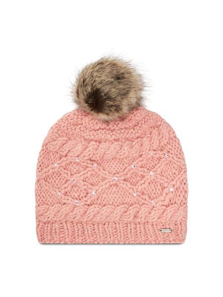 Różowa czapka z akrylu Barts