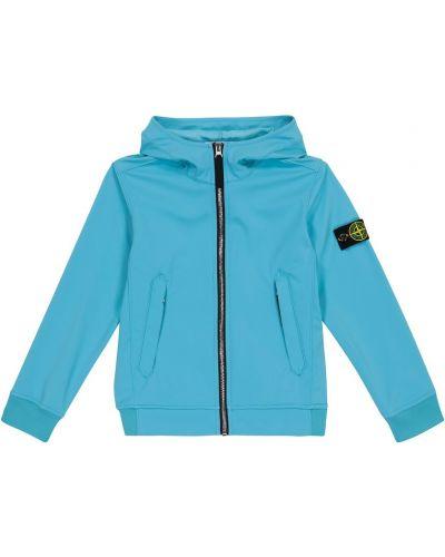 Куртка с капюшоном - синяя Stone Island Junior