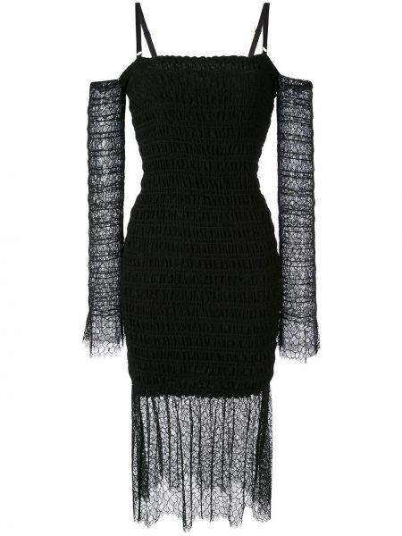 Платье миди на бретелях черное Dion Lee