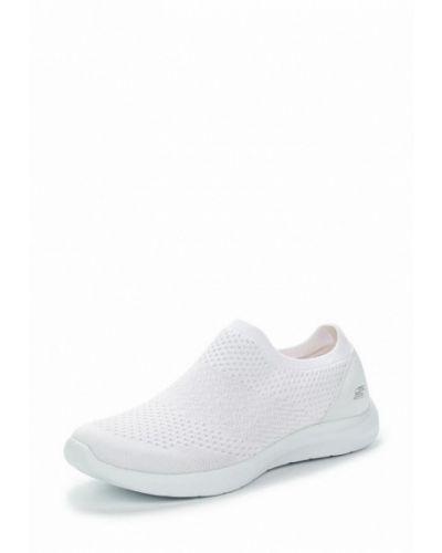 Белые слипоны Skechers