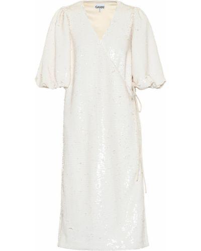 Платье миди с пайетками Ganni