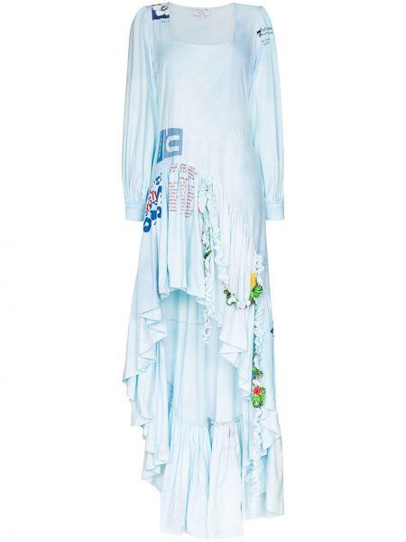 Sukienka bawełniana - niebieska Collina Strada