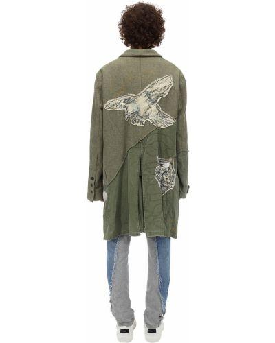 Куртка милитари лоскутная Greg Lauren
