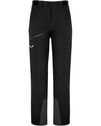 Свободные черные горнолыжные брюки с карманами Salewa