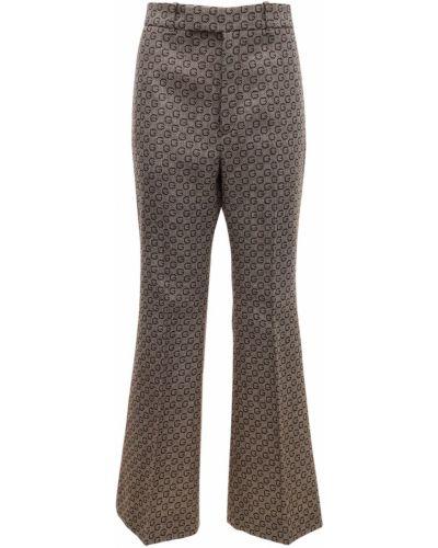 Bezpłatne cięcie wełniany spodnie z kieszeniami bezpłatne cięcie Gucci