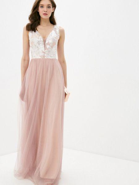 Розовое вечернее платье Soky & Soka