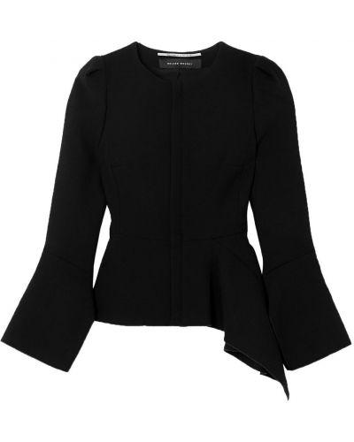 Шерстяная черная куртка двусторонняя Roland Mouret