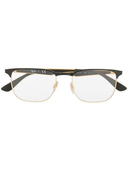 Желтые очки прямоугольные металлические Ray-ban