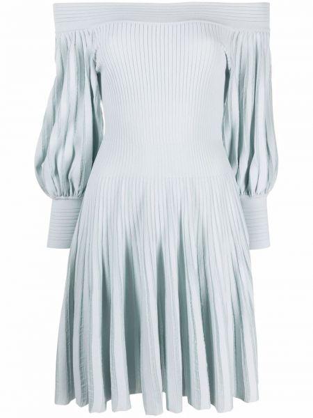 Niebieska sukienka długa z długimi rękawami z wiskozy Antonino Valenti