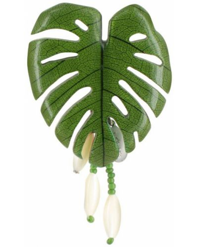 Зеленая брошь с камнями Nature Bijoux