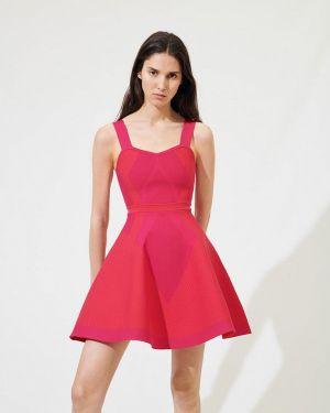 Платье розовое платье-сарафан Maje