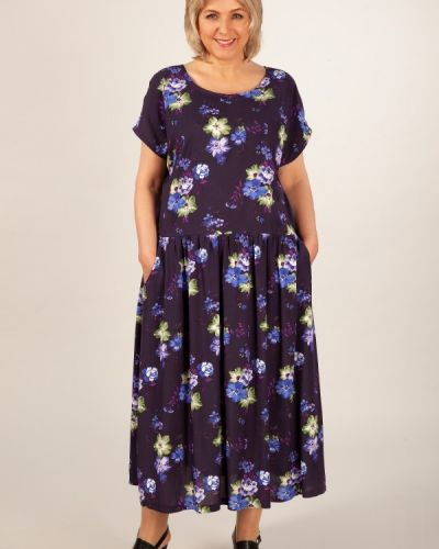 Летнее платье с цветочным принтом из штапеля милада