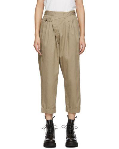 Укороченные брюки плиссированные брюки-хулиганы R13
