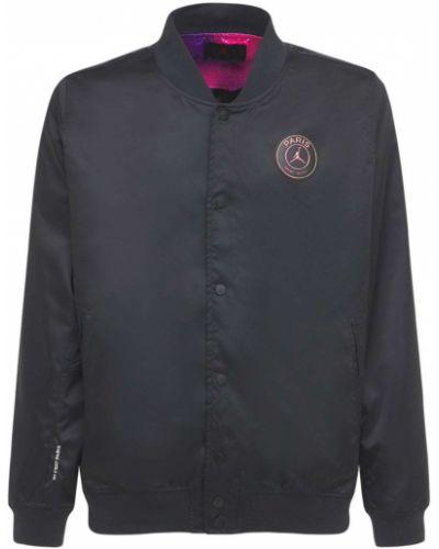 Черная куртка с карманами с манжетами Nike