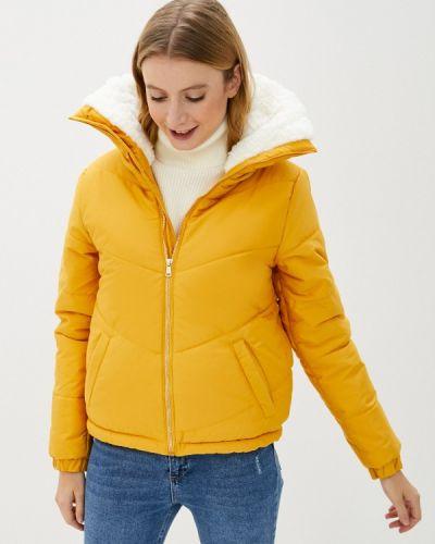 Теплая оранжевая утепленная куртка Defacto