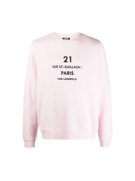 Różowy sweter Karl Lagerfeld