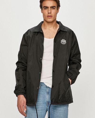 Czarna kurtka z kapturem z nylonu Vans
