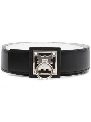 Черный кожаный ремень винтажный Hermès