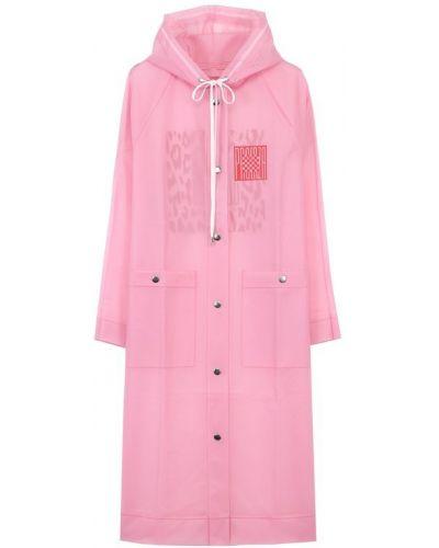 Розовое пальто с капюшоном Proenza Schouler