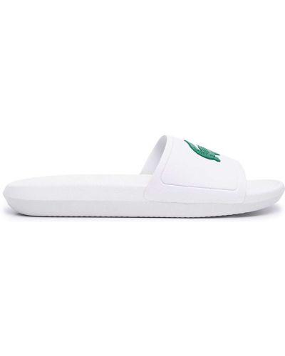 Sandały peep toe - białe Lacoste