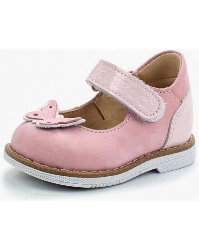 Кожаные розовые туфли Tapiboo
