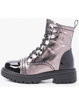 Серебряные кожаные ботинки Abricot