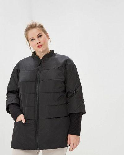 Утепленная куртка демисезонная черная симпатика