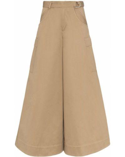 Коричневые свободные брюки с поясом Asai