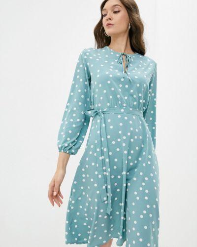 Бирюзовое прямое платье Froggi