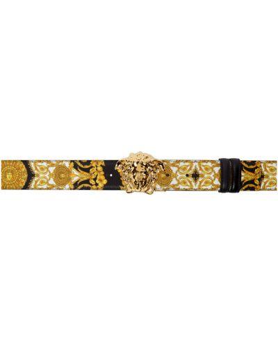 Белый ремень с пряжкой с поясом Versace