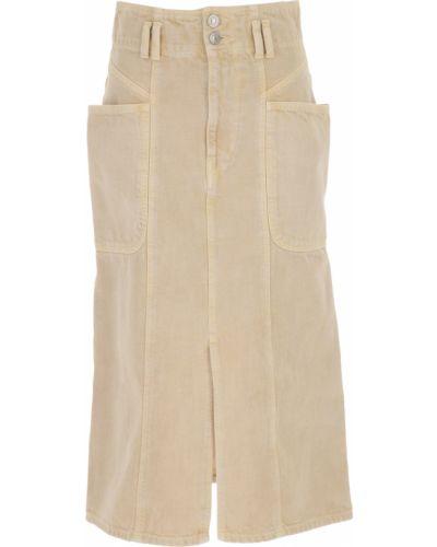 Beżowa spódnica zimowa Isabel Marant