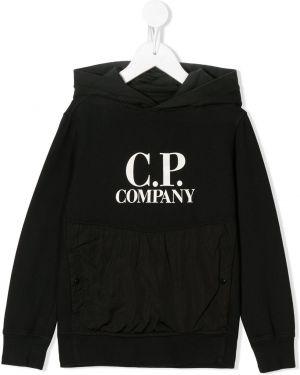 Толстовка с капюшоном черная Cp Company Kids