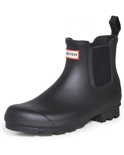 Czarne sztyblety Hunter Boots