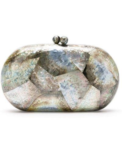 Beżowa kopertówka srebrna perły Serpui