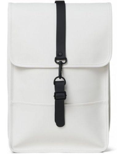 Biały plecak w paski Rains