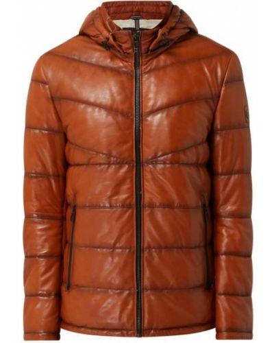 Pomarańczowa kurtka skórzana Milestone
