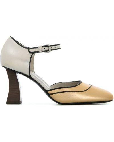 Туфли-лодочки на высоком каблуке кожаные Marni