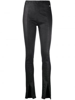 Czarne spodnie rurki bawełniane rozkloszowane Rick Owens