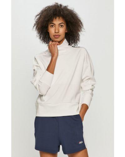 Biała bluza z printem dzianinowa Fila