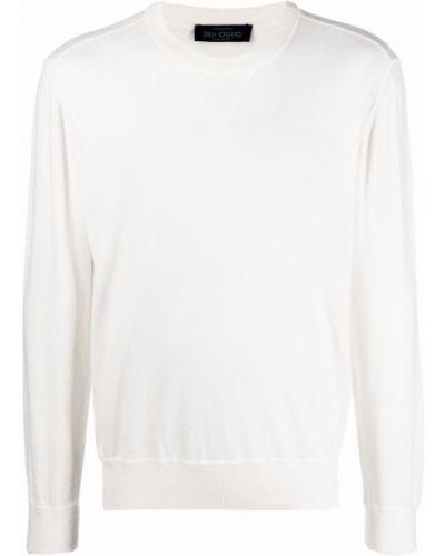 Biały sweter bawełniany Lardini