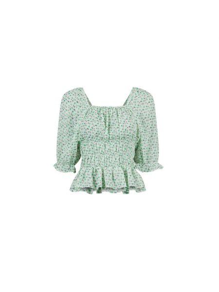 Zielona bluzka casual Neo Noir