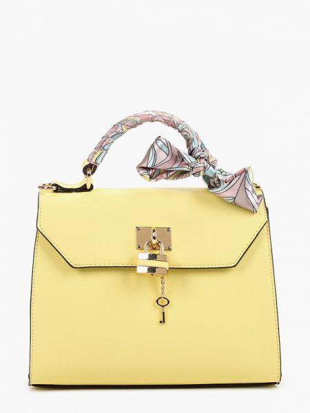 Кожаная сумка с ручками желтый Aldo
